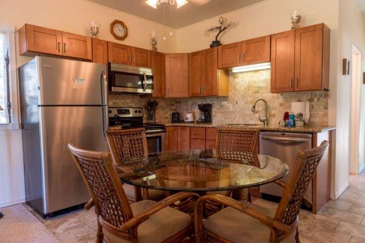 Newly upgraded kitchen with full sized apppliances including dishwasher - Pohailani 2 bedroom / 1 bath - Unit 148 - Kahana - Kahana - rentals