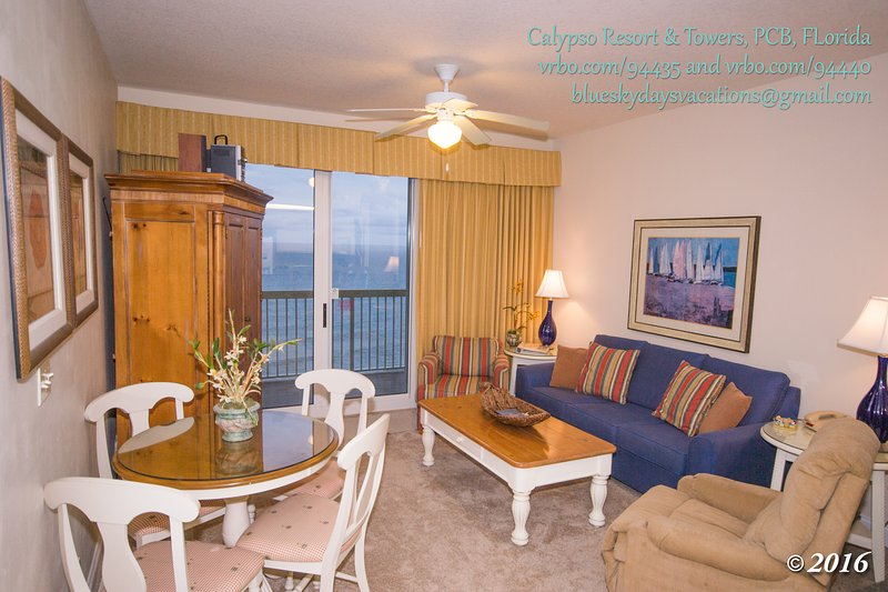 1 Bedroom with Garden Tub and 2 Reserved Beach Chairs/Umbrella at Calypso - Image 1 - Panama City Beach - rentals