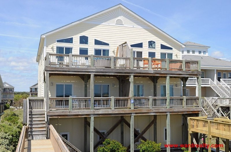 Oceanfront Exterior - Whiskers on Kittens - North Topsail Beach - rentals