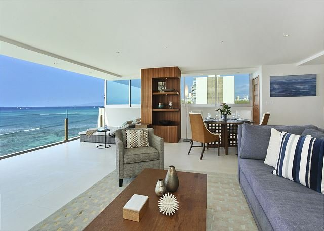 MESMERIZING Oceanfront Views; Impressive 2 Bedroom, 2 Bath with Washlets! - Image 1 - Waikiki - rentals