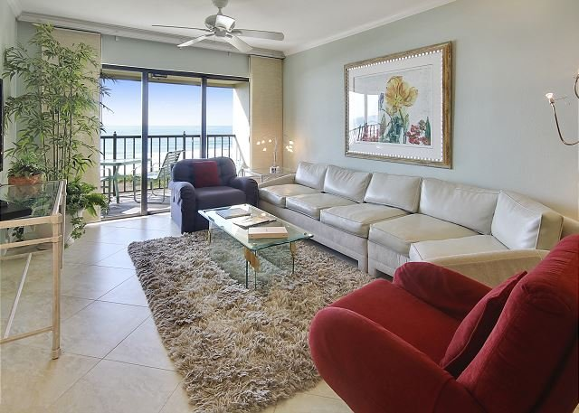 Living Area - Land's End #406 building 11 - Beach Front - Treasure Island - rentals