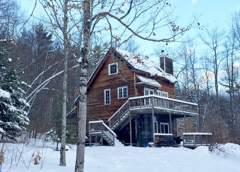 New snow in Newfane, winter 2016-17 - Romantic Vermont Vacation Cabin with View - Newfane - rentals