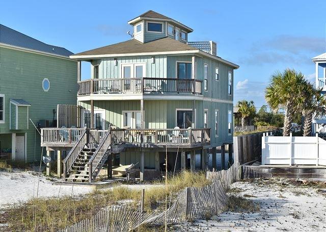 Enjoy Gulf front from 2 large decks - Halekai II, Beachfront House, Private Pool & Gazebo - Orange Beach - rentals