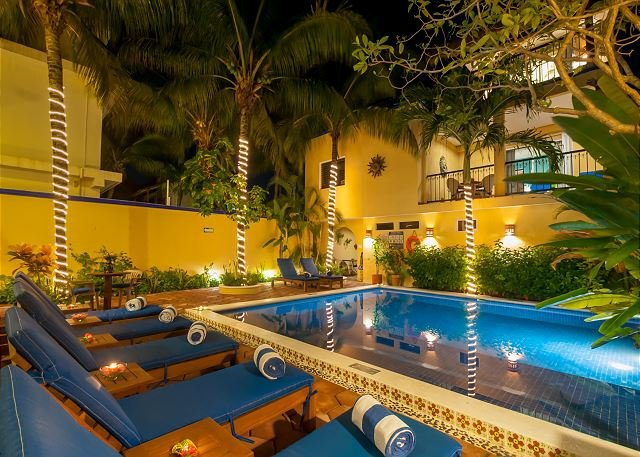 ONE BLOCK TO BEACH, APARTMENT, POOL, BBQ, OFFICE, RELAXING, QUITE, FREE WI FI - Image 1 - Puerto Morelos - rentals