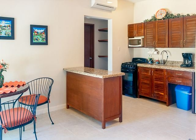 Well equipped kitchen with granite countertops - private balcony overlooking the pool, peaceful apartment with great amenities - Puerto Morelos - rentals