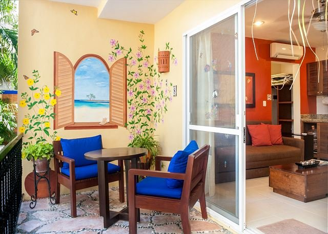 Private patio overlooking the pool. Two minute stroll to the beach. - Image 1 - Puerto Morelos - rentals