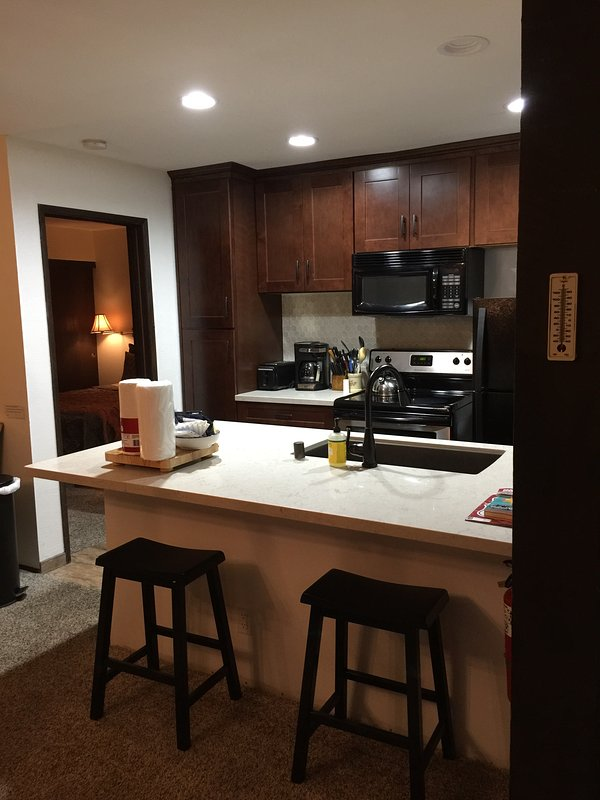 new kitchen - 1 bed, 2 bath on shuttle route, undergrnd parking - Mammoth Lakes - rentals