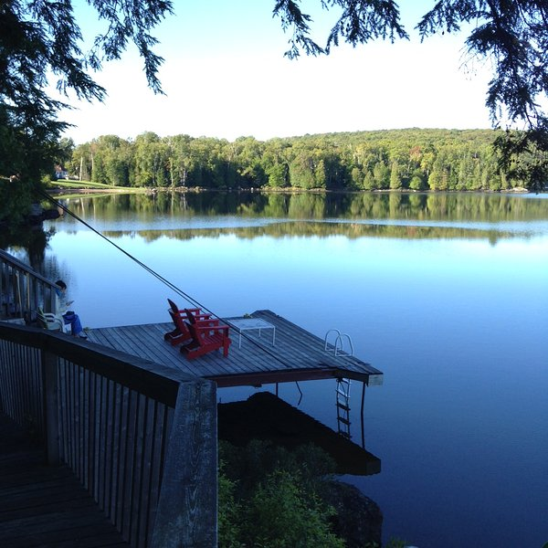 relaxed at west facing dock ,a secluded spot - Four Season Muskoka Lakefront Rental - Kearney - rentals