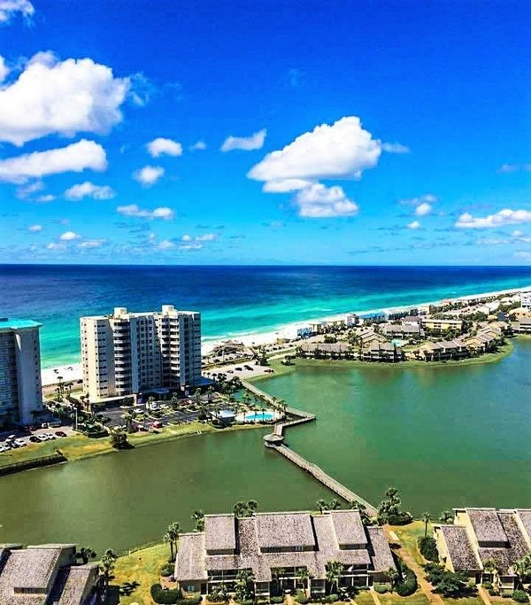 View From Balcony - Seascape 2201: GULF VIEWS, Pool, Steps to Beach! - Destin - rentals