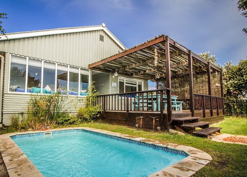 Gone to the Beach front of house and splash pool (safety net if required) - Gone to the Beach Villa in Scarborough Cape Town - Scarborough - rentals