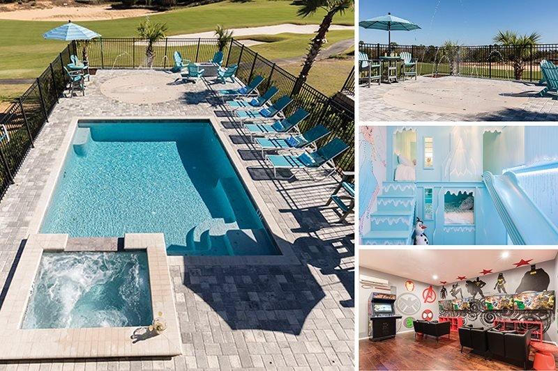 Designed for Fun | Splashpad, Extended Deck, Firepit, Purpose Built Bunkbeds, Games Room, Arcades, Luxury 5 Bed Reunion Villa - Image 1 - Kissimmee - rentals