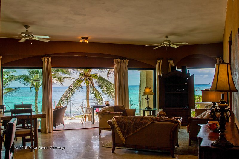 Open your sliding doors to paradise! Direct oceanfront - Luna Encantada C-1 - Playa del Carmen - rentals