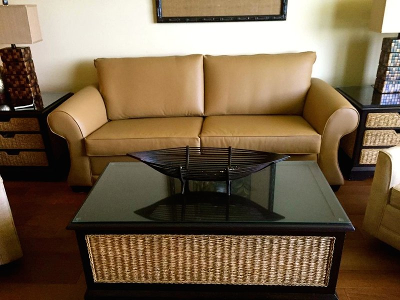 New hardwood flooring and queen sleeper sofa. - Sterling Breeze-beachfront, FREE Chair Service - Panama City Beach - rentals