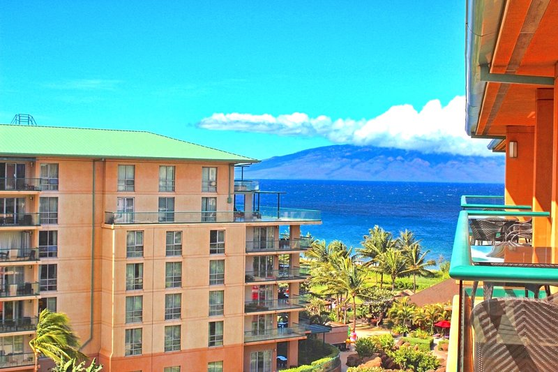 Maui Resort Rentals: Honua Kai Konea 708 – Rare Top Floor 2BR/1BA with Ocean + Mountain Views - Image 1 - Lahaina - rentals