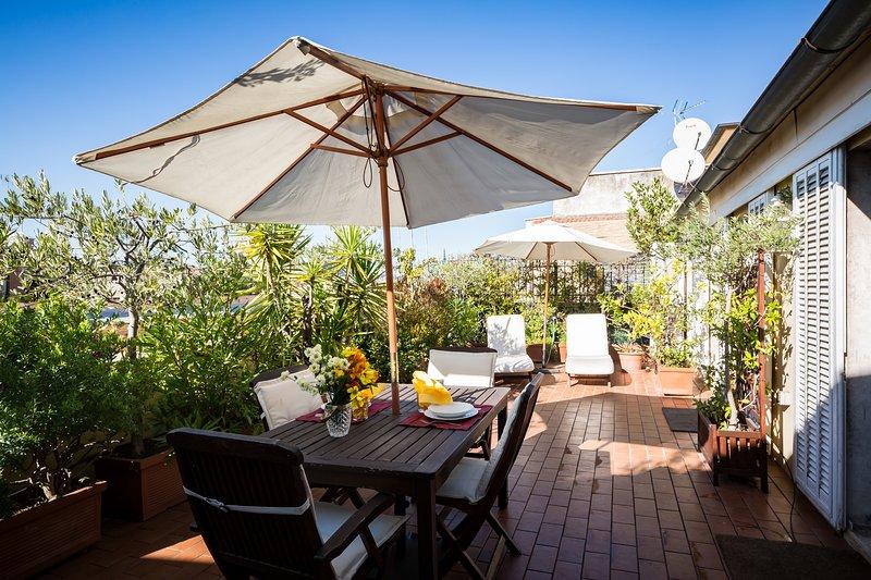 Perfect Luxury Penthouse-Huge Sunny Terrace-Designer Decor- Fresco Apartment - Image 1 - Rome - rentals