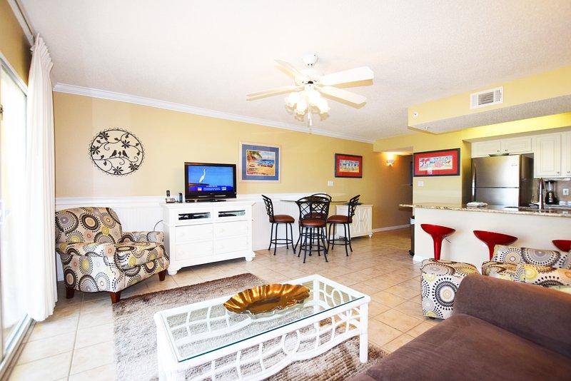 Living Room Gulf Dunes 114 Fort Walton Beach Florida Okaloosa Island - .Gulf Dunes Resort, Unit 114 - Fort Walton Beach - rentals