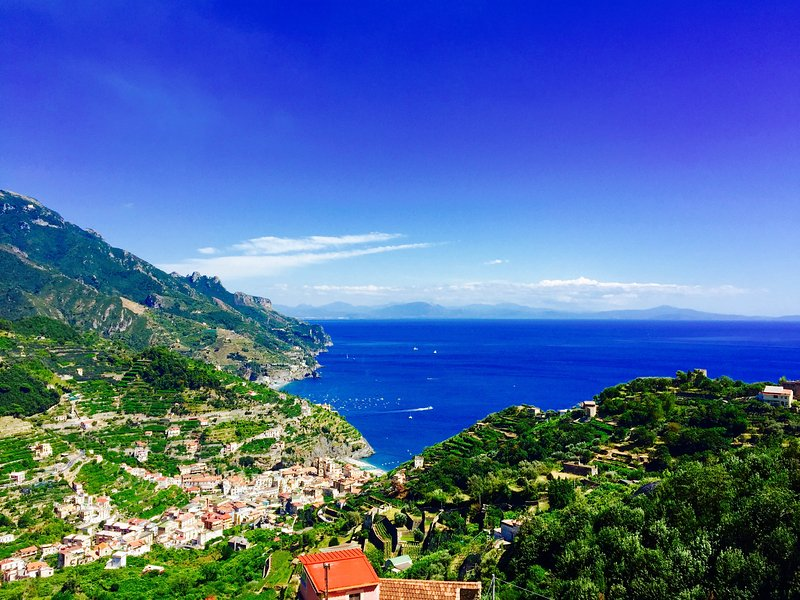 View from the balcony - Breathtaking sea view on Amalfi Coast, Ravello. - Ravello - rentals