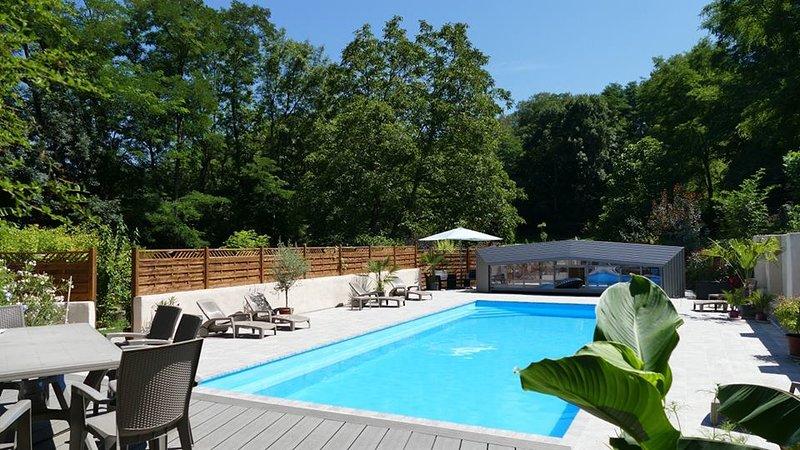 12X5m heated pool - La Scierie Gites - Gallery Gite - Serres-sur-Arget - rentals
