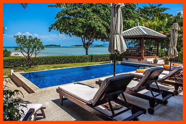 Villa 01 - Beach front private pool and sunset views - Image 1 - Plai Laem - rentals