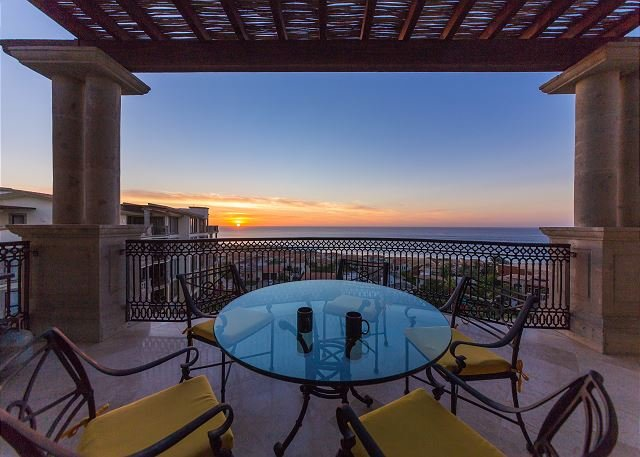 Wake up with your coffee and this sunrise - Ocean View with Jacuzzi Terrace, Cabo del Sol Golf, Walking Distance to Beach - Cabo San Lucas - rentals