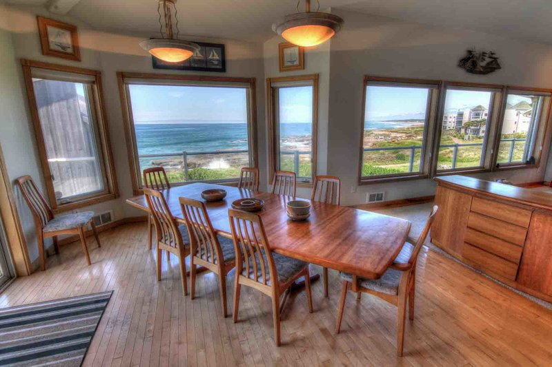 Ocean Front Home with Hot Tub and Game Room! Free Night! - Image 1 - Yachats - rentals