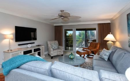 Living Area - Buttonwood 432 - Siesta Key - rentals