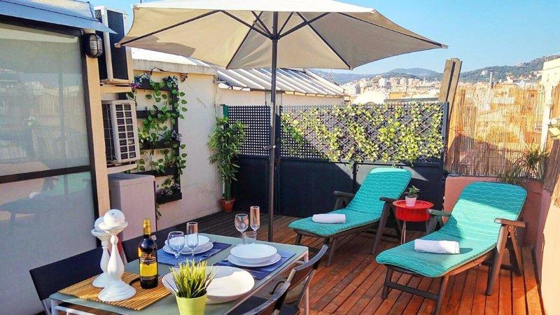 Barcelona - Igualada Penthouse - Terrace - Beautiful 1 Bedroom Penthouse in Gracia - Barcelona - rentals