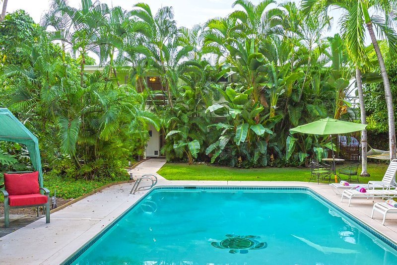 Relax by the pool - TUTU'S BEACH HOUSE... LARGE HOME WITH PRIVATE POOL - Kailua-Kona - rentals