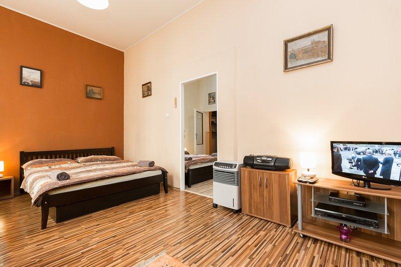 Bedroom / living room - Two bedroom apartment Letna - Prague - rentals