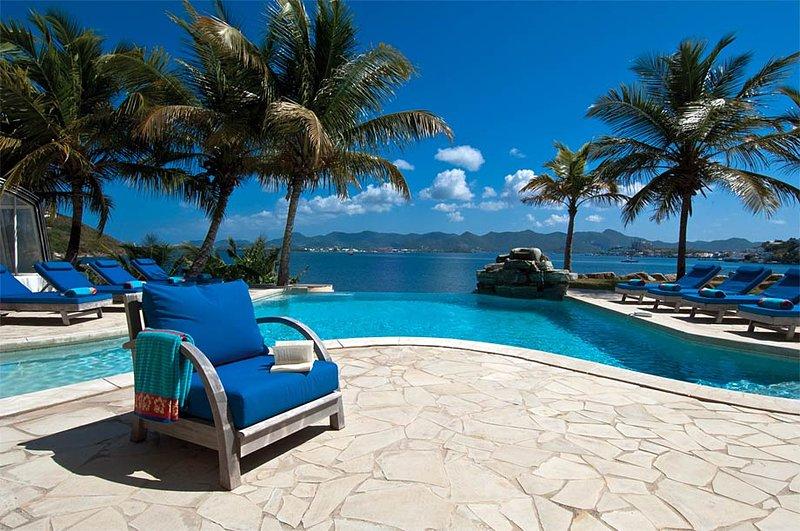 C'est la Vue, Terres Basses, St Martin - C'EST LA VUE...a peaceful, 6 BR lagoon front villa with private beach! - Terres Basses - rentals