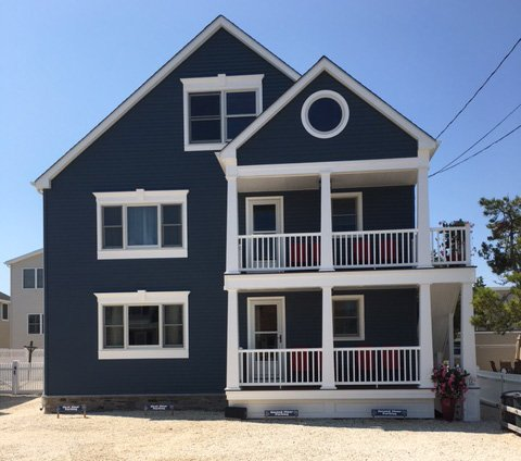 outside front view - LBI Brighton Beach Oceanside  2 Bedroom Apartment - Long Beach Island - rentals