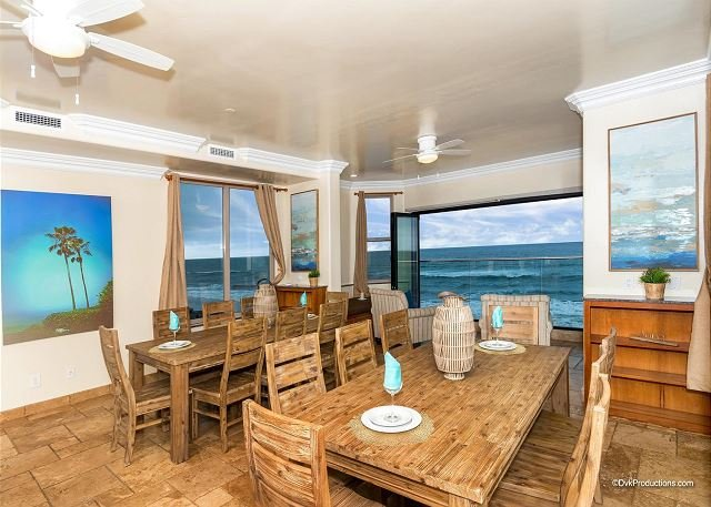 Oceanfront unit with 8br/ 8ba, rooftop decks, private spa, A/C Equipped - Image 1 - Oceanside - rentals