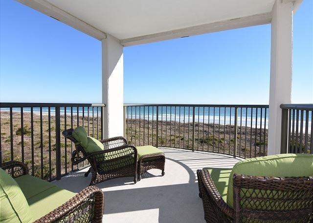 Duneridge 1401 Balcony - DR 1401 - Oceanfront Condo at Duneridge Resort with unobstructed ocean views - Wrightsville Beach - rentals