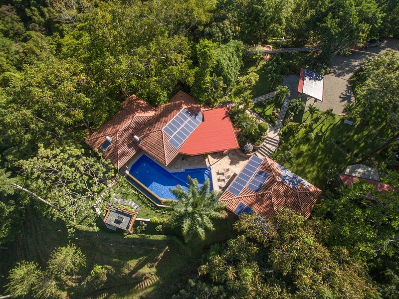 Bird's Eye View of Sea Breeze. - Sea Breeze Casa and Nature Reserve - Dominical - rentals