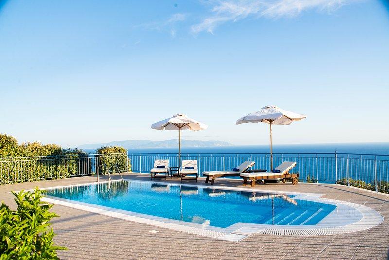 Villa Odysseus Sea & Mountain Views to the Horizon - Image 1 - Lourdas - rentals