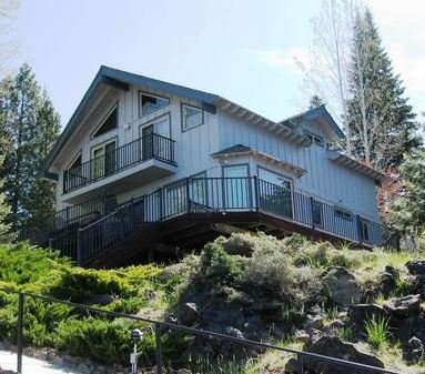 Back of House - Jern - West Shore Lake Front with Large Dock & Buoy - Lake Almanor - rentals