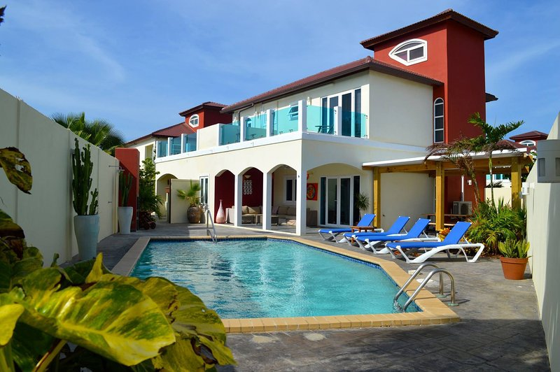Private Garden with Pool - The Best 10 persons Villa at Palm Beach Aruba - Palm/Eagle Beach - rentals
