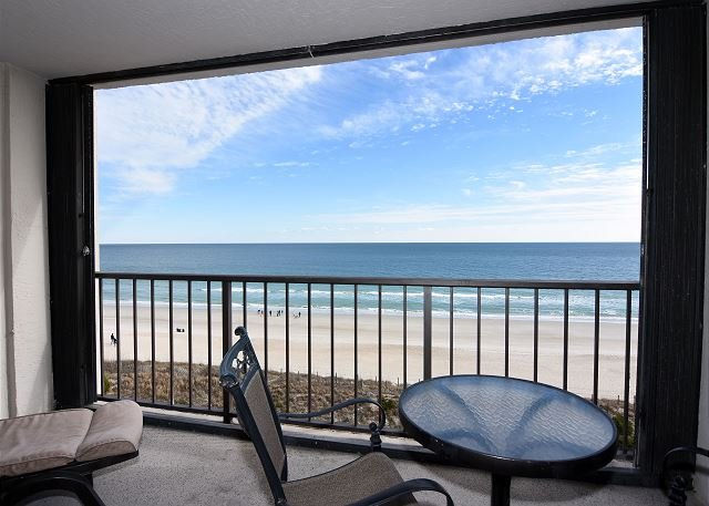 Station One - 6D - Oceanfront Balcony - Station One - 6D DeWall-Oceanfront condo with community pool, tennis, beach - Wrightsville Beach - rentals