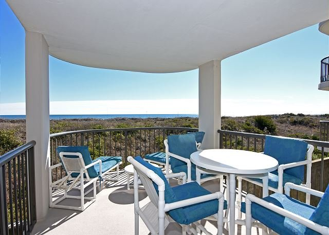 Duneridge 1104 - Oceanfront Balcony - DR 1104 - What a view from the Balcony of this remodeled Duneridge Condo - Wrightsville Beach - rentals