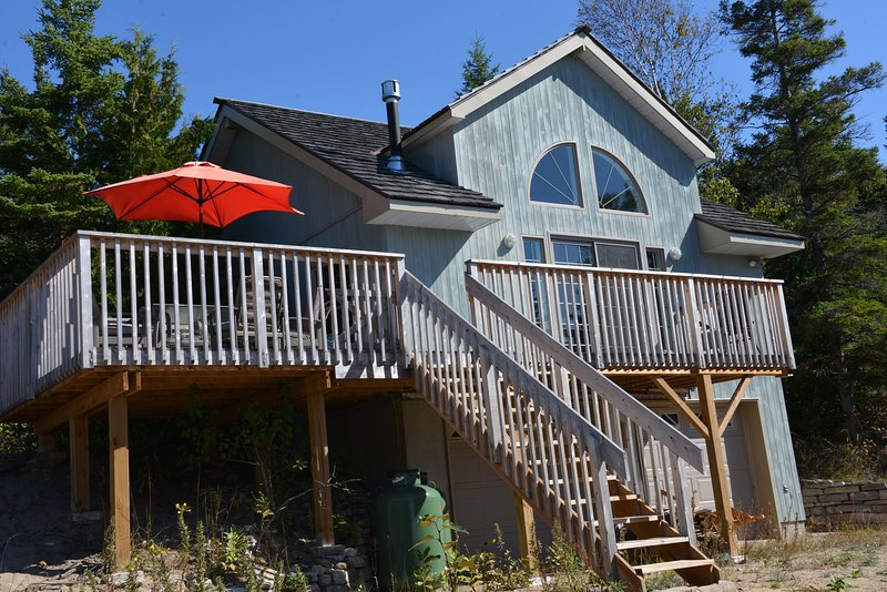 Front view from beach - Beach House on Square Bay - Spring Bay - rentals