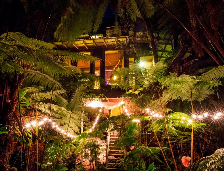 A work of art in the forest. Photos by Jon Mikan, ©2017  - Hawaii Volcano Genuine Treehouse rental - Volcano - rentals