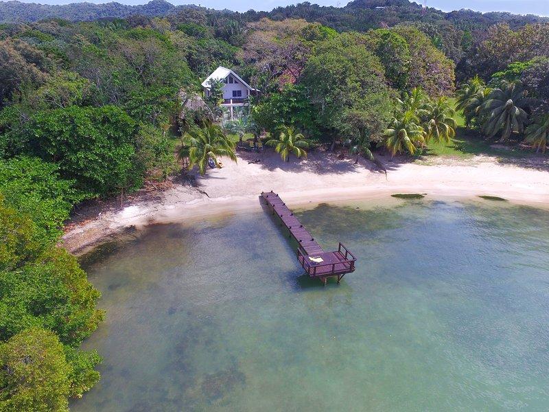 Aerial view of Casa de Rexanna - Casa de Rexanna upper - Roatan - rentals