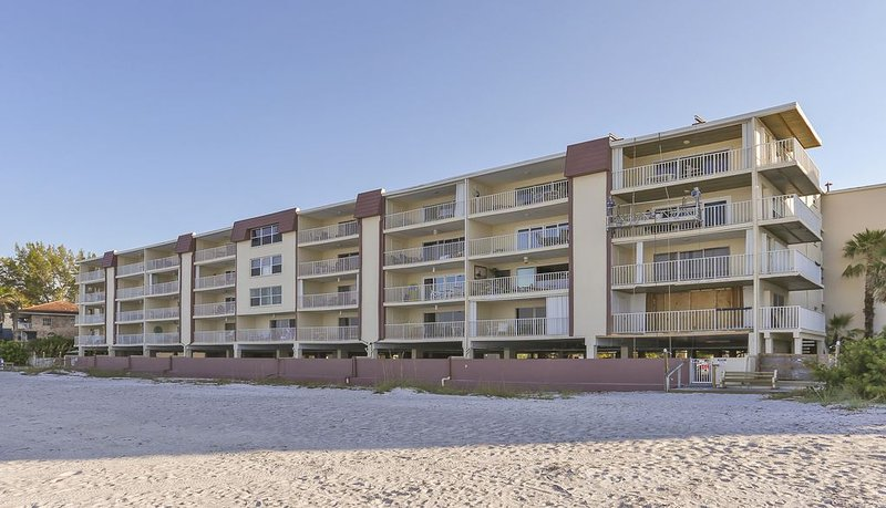 Our building is located gulf front, directly on the beach in Indian Shores. - My Indian Shores 2BD Family  Vacation Condo Directly on the Beach - Indian Shores - rentals