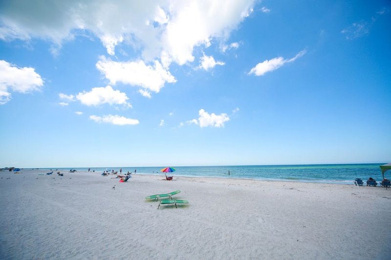 Our condo building is located directly on the beach overlooking the Gulf. - My Indian Shores Family Resort Beach Condo Rental - Indian Shores - rentals