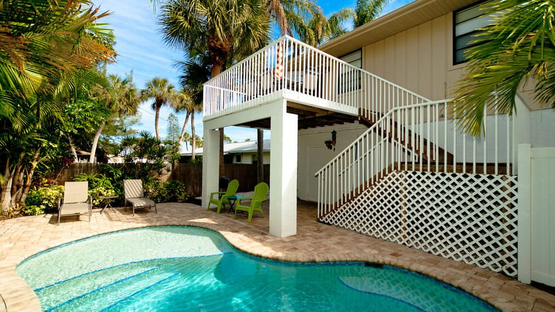 Very Inviting Pool! - Island Hideaway East: 2BR Kid-Friendly Pool Home - Holmes Beach - rentals