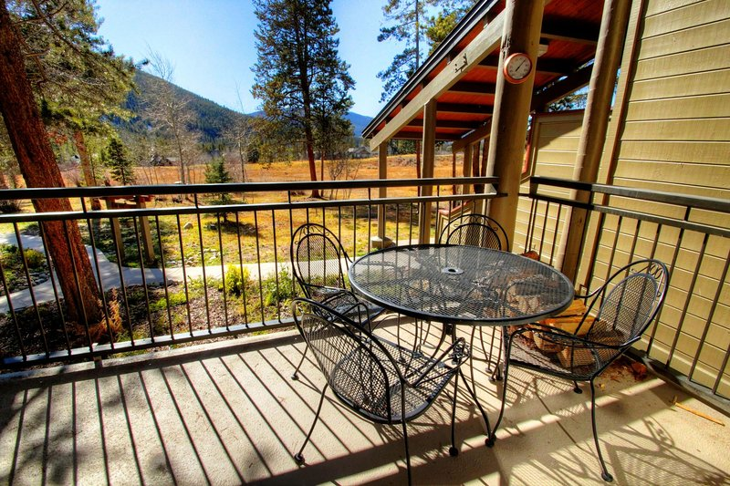 "SkyRun Property - ""2164 The Pines"" - Deck View  - Wrap around deck with private BBQ grill - 2164 The Pines - Keystone - rentals"