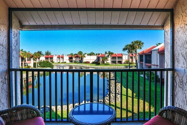 View from the Balcony - Runaway Bay 278 - Bradenton Beach - rentals