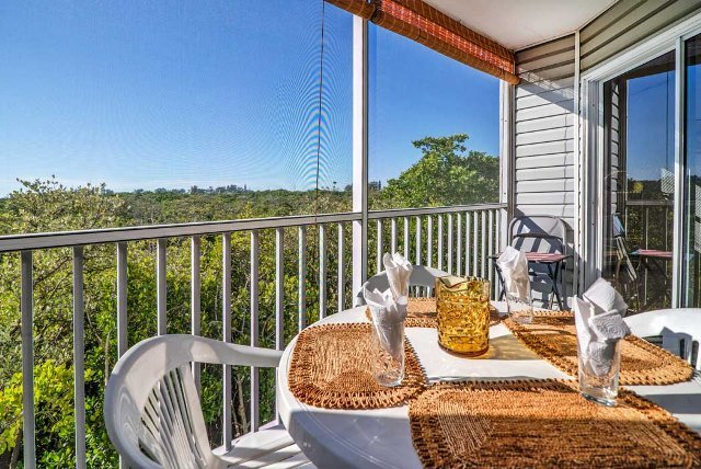 View from the balcony - Sandy Point 106 - Holmes Beach - rentals