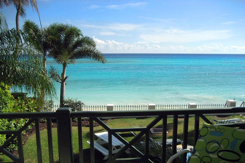 Leith Court 3 - Beautiful ocean front views from your private patio - Leith Court 3 - Casual Beachfront Apartment - Christ Church - rentals
