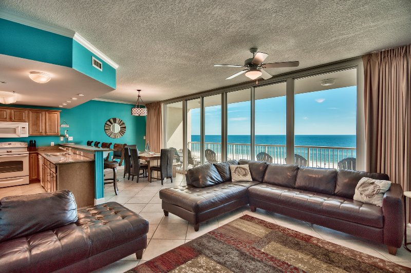 30-foot wall of glass gives you a great view of the beach from inside the condo. - PINCH YOURSELF - THE PERFECT VACATION IS WAITING...BOOK NOW!! - Gulf Shores - rentals